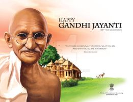 Gandhi Jayanti Ad done for a news paper contest by STAR-ARUN