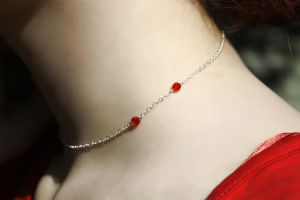 Vampire Bite Choker Sterling by Forgotten-Rose-Girl