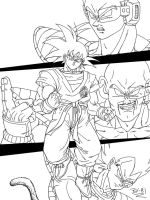 Saiyan saga reloaded lineart by BK-81