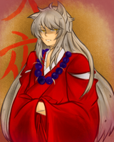 Inuyasha (Doodle) by Mishhe-KHT