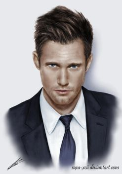 Alexander Skarsgard drawing. by Saxa-XCII