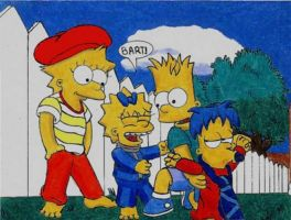 Four Simpsons Kids... by simpspin