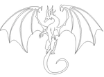 UPDATE: Free Dragon Lineart by DiloTheSeaDragon120