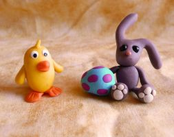 Fimo - HAPPY EASTER!! by ugnip