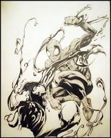 Spiderman VS Ultimate Carnage by BlackhawksWin76