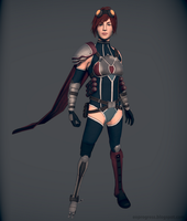 3D Sci fi character by Eowynu