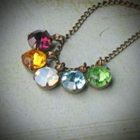Vintage Rhinestone Necklace by rewelliott