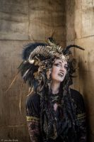 Stock - Black and gold Vampire Queen Faun Demon 48 by S-T-A-R-gazer