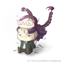 Fukawa And Togami by ShadowAmongShadows