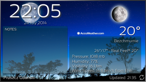 Notes Clock Weather Hd for XWidget by Slavoo123