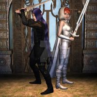 The Dark Lord Dargoth V's the Young Serreria by bluegemstones