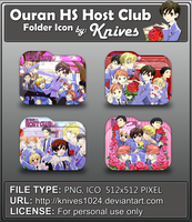 Ouran High School Host Club Anime Folder Icon  by knives1024