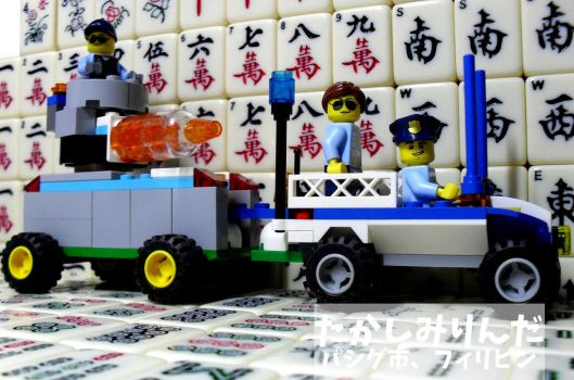 My 9th LEGO Build: Mobile Police Command #4 - 3 by takeshimiranda