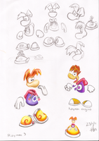 rayman sketches by pauladrag17