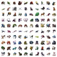 100 creatures by cakeypigdog