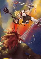 Roxas VS Axel 2 by BondWithColors