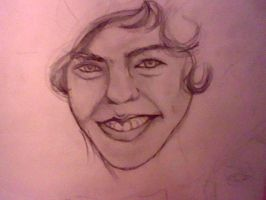 Harry Styles-Portrait by crazymoiraillegiance