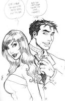 holiday sketch 9-peter and mj by deemonproductions