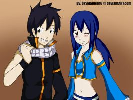 RoWen as NaLu by SkyMaiden16