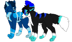 Blue and Flash by Hyperactive-Blue