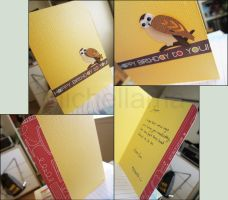 Happy Owl Card by michellama