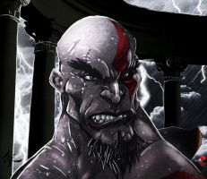 "Kratos ""Ghost of Sparta"" by commanderlewis"