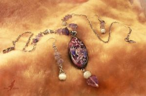 Necklace set-purple Moonlight dragon baby fullview by AlviaAlcedo