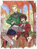 Of Elves and Hobbits by cathy-chan