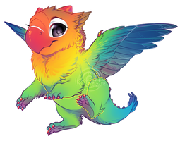 If birds were dragons: Lovebird by Kiwibon