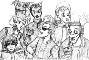 Monster High: Boys Sketch by I-heart-Link