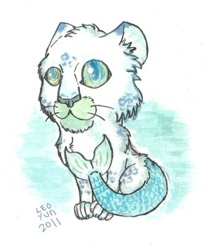 Sea leopard drawing by Leoyun