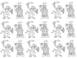 Dwarf Vs Skaven Colouring Template Version 2 by Kaal979