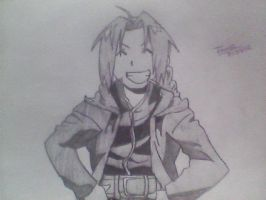 Edward Elric shaded by iShadowLink