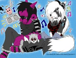 Chilling with the beat colored by WhiteFurr