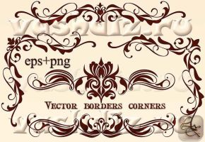 Vector borders corners LZ DA by Lyotta