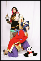 Panda Annie and Fiora! by Stunt-Sheep