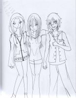 Three Friends Together Again by HardStyle-Love