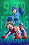 Mega Man and Rush by straya