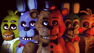 C4D|Remake|Poster FNAF #2 by YinyangGio1987