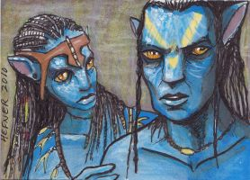 Avatar Sketch Card 1 by HalHefnerART
