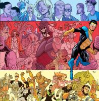 Invincible volume 3 hard cover by RyanOttley