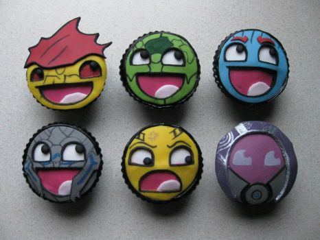 'Awesome' Mass Effect Cupcakes by BeanieBat
