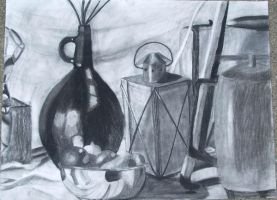 Charcoal Still Life by hobbitchef