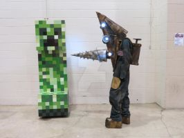 Silent Shock vs. Minecraft by ZombieGrimm