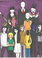 CreepyPasta Family by Bullwoman