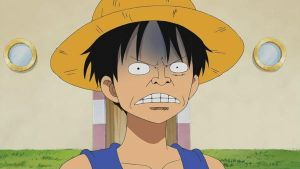 OMG  MONKEY D. LUFFY BAD FACE by Flexcorp