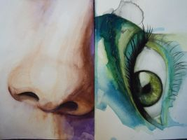 Watercolour Nose and Eye by Jess-needs-username