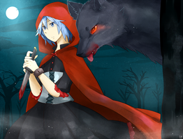 Red Riding Hood and The Wolf by Sellleh