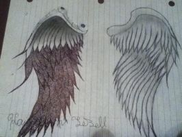 Angel wings by kaitlynnasslebell