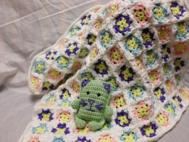 Flower Garden Baby Blanket by Alicia1018